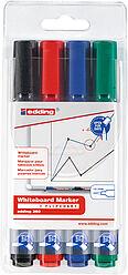 4er Set Whiteboardmarker EDDING® 360 - SCHWARZ -  ROT - BLAU - GRÜN